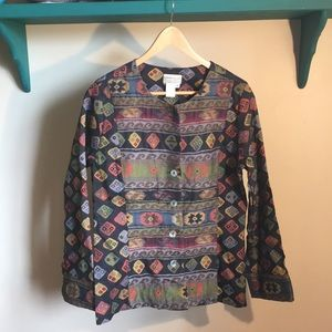 Vintage print jacket